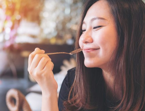Why do people close their eyes when they eat something unbelievably delicious?